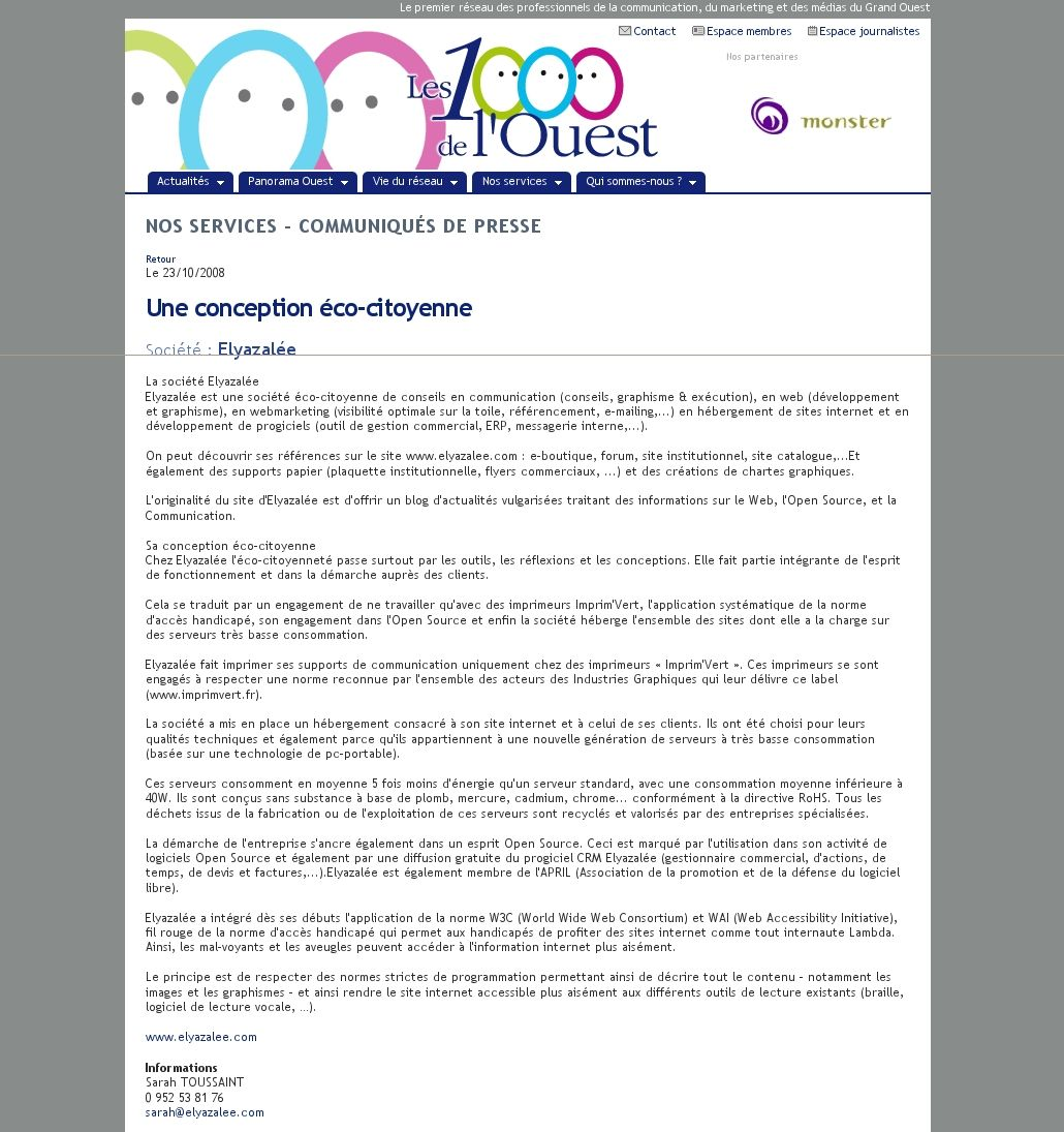 Une conception éco-citoyenne - Elyazalée - Création site web Saint ... cadc79bceb28