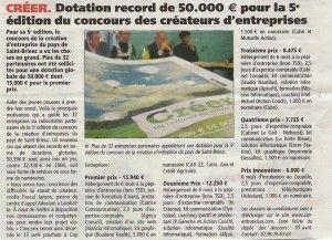 CREER - Dotation record de 50 000€ pour la 5ème édition du concours des créateurs d'entreprises.
