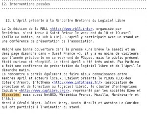 Lettre information internet April