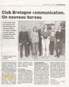 Club Bretagne communication. Un nouveau bureau.