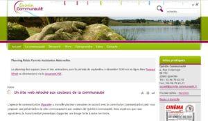 Un site web relooké aux couleurs de la communauté.