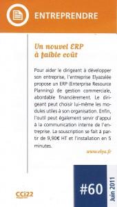Entreprendre  Un nouvel ERP à faible coût
