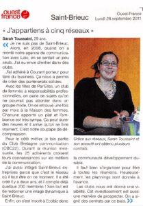 2011_09_26_J'appartiens à 5 réseaux - Ouest France