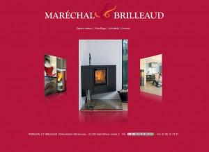 Illustration de la première page du site internet de la boutique Maréchal et Brilleaud