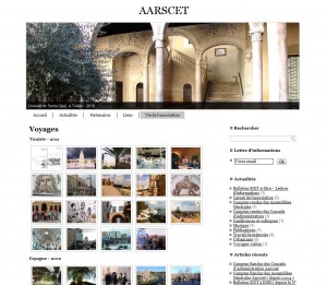 Impression écran du site internet AARSCET