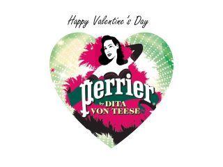 Dita Von Teese Perrier Saint Valentin