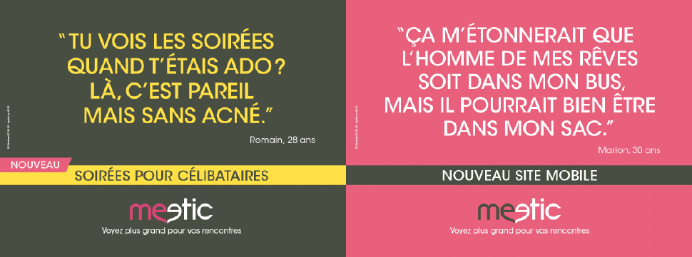 Affichage meetic