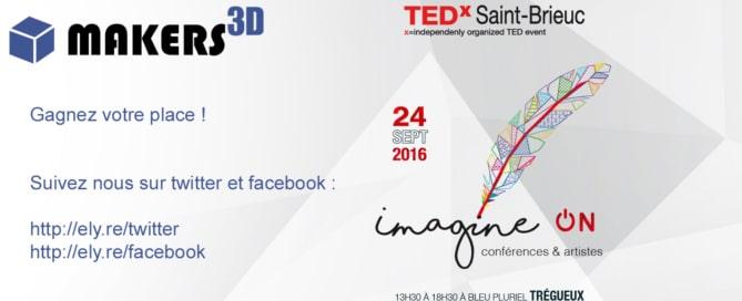 Makers 3D partenaire du TedX Saint-Brieuc
