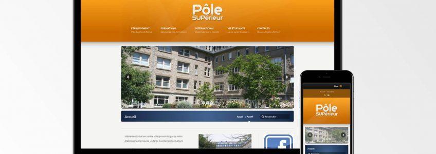 Pole Sup Saint-Brieuc - Site internet