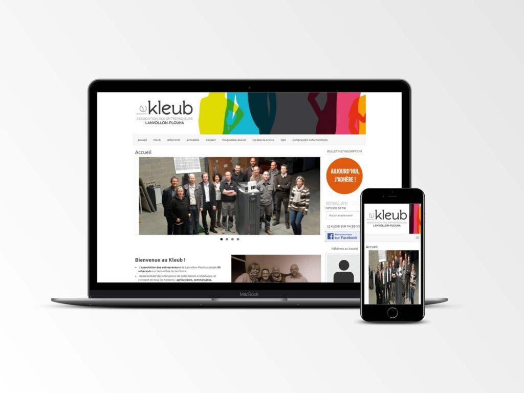 Le Kleub - Site internet