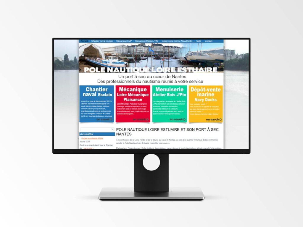 Pole Nautique Loire Estuaire - Site Internet