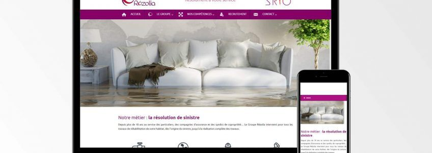 Groupe Rezolia - Site internet
