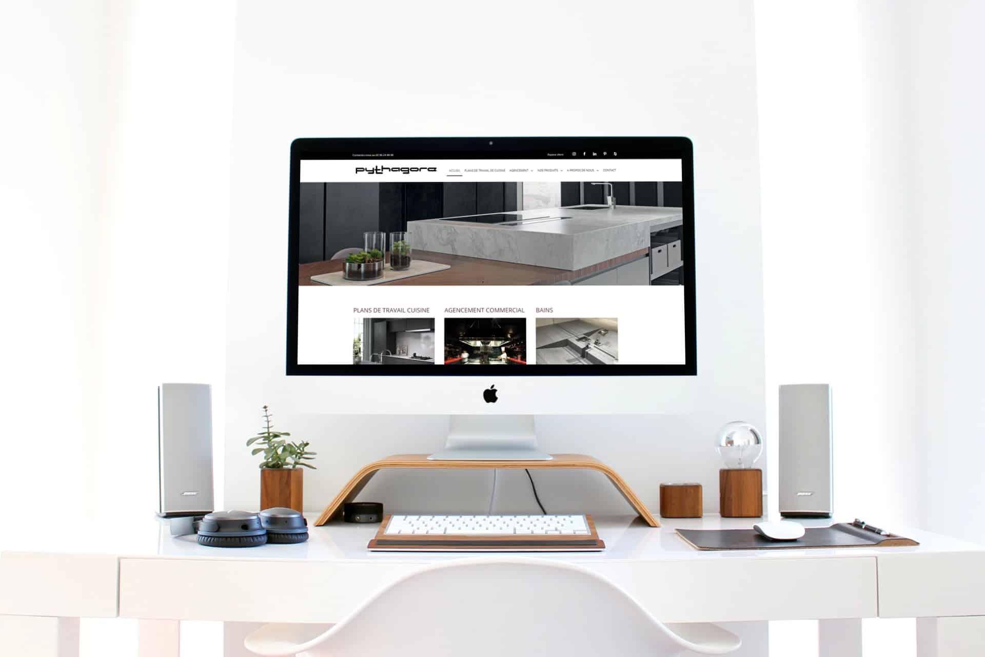 Création site web Saint-brieuc : Marbrerie Pythagore